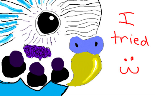 Frist time using a drawing tablet-firstbudgie.jpg